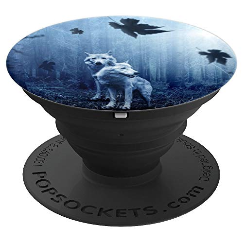 Wolf Forest Dark Animal Hunter Wolves Night Creepy Scary - PopSockets Grip and Stand for Phones and Tablets