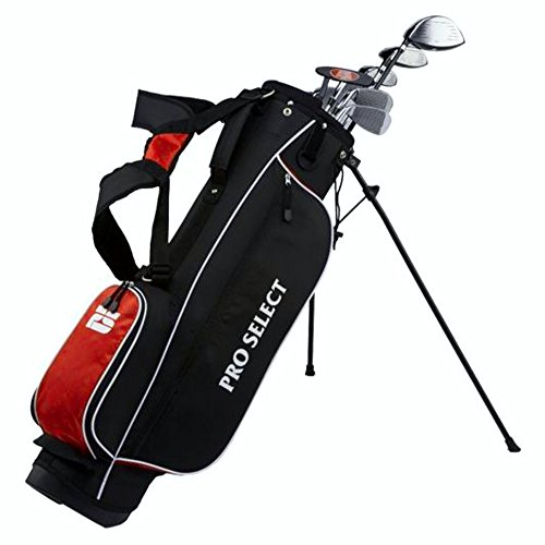 Pro Select New Red 13 Piece Complete Golf Set w/Driver,Irons,Bag,Putter Regular