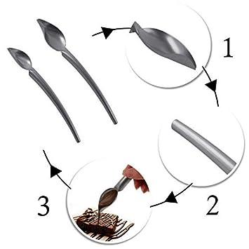TOOGOO DIY Cuchara de Chocolate de Acero Inoxidable Lapiz Cucharas Decoracion de Pasteles Para Hornear Pasteleria Herramientas Accesorios pequenos