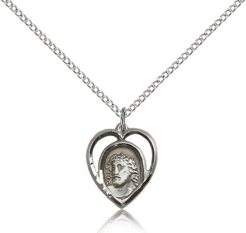 Sterling Silver Ecce Homo Pendant 18 Chain
