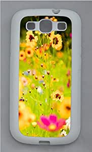 Samsung S3 Case Vivid Flowers 2 TPU Custom Samsung S3 Case Cover White