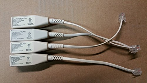 Price comparison product image Pace DSL FILTER for TELEPHONE ,FAX & ANALOG MODEMS-A packet of 4