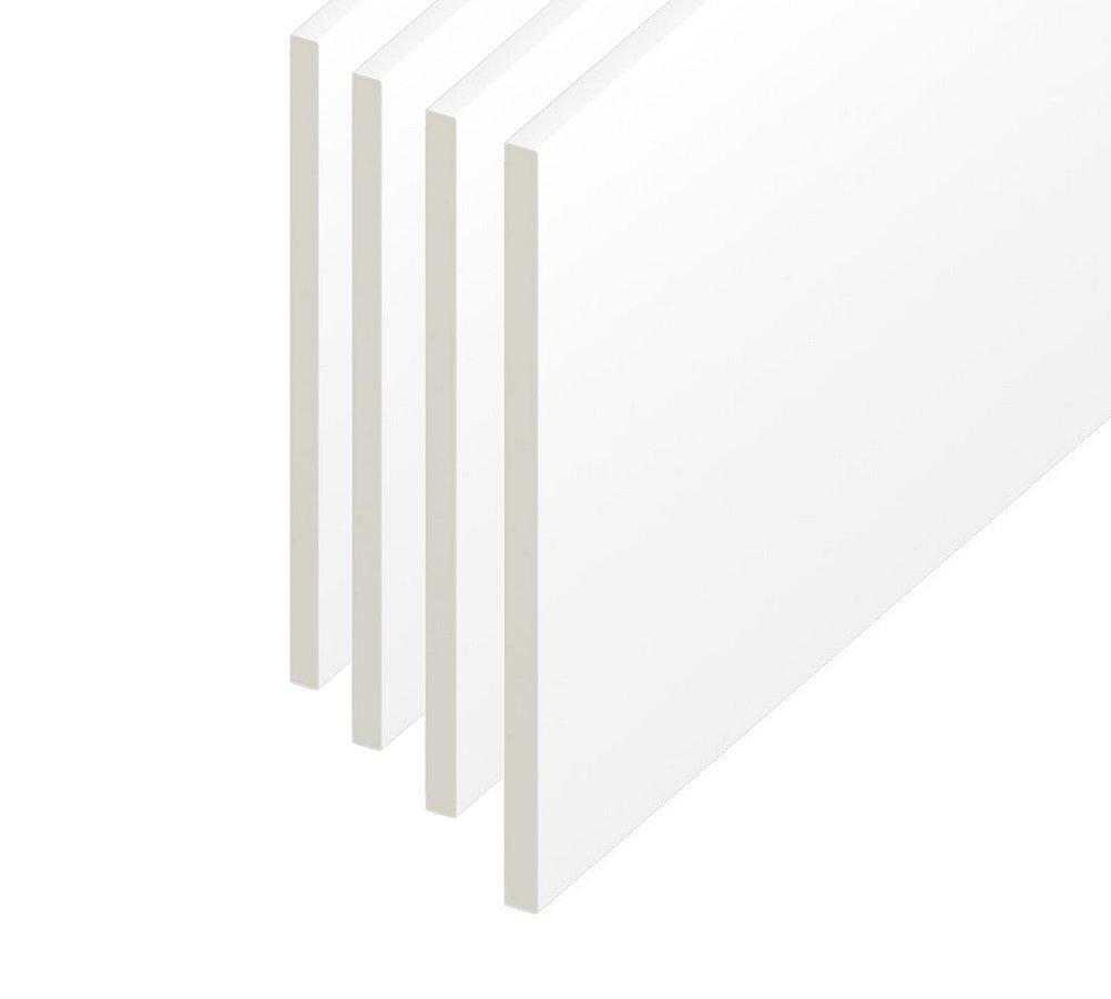 100mm Soffit / Utility / Reveal / Skirting PVC Plastic Flat Board - White - 1.5m Length Eurocell