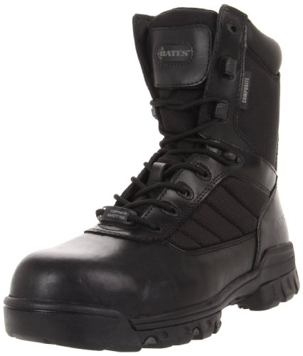 Sport Composite Toe Side Zip - Bates Men's Ulta-lites 8 Inches Tactical Sport Comp Toe Work Boot,Black,8.5 M US