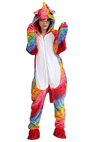 di Pigiama Unisex Costume Adulto Natale Landove Animali Party Cosplay InteroTuta Unicorno Anime Unicorno Halloween Kigurumi Onesie Carnevale Sirena Animale di Compleanno Regalo 8nqwgpqf