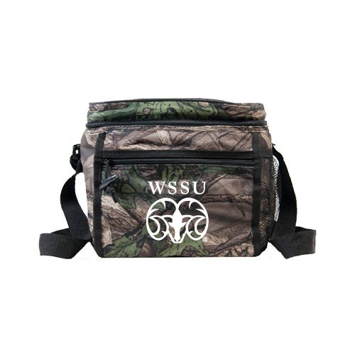 Winston Salem Big Buck Camo Junior Sport Cooler 'WSSU Ram' by CollegeFanGear
