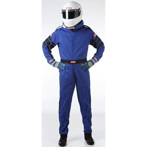 RaceQuip 110028 110 Series XXX-Large Blue SFI 3.2A/1 Single Layer One-Piece Driving - Blue Racing Suit