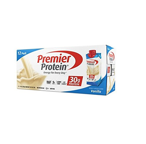 Premier Nutrition High Protein Shake, Vanilla, 11 oz.,3Pack (18 Count Each ) by Premier Protein