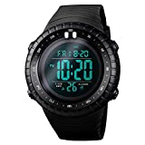 SKMEI Men's Sports Digital Watches, Military Outdoor Waterproof Wrist Watch Multifunction Large Face