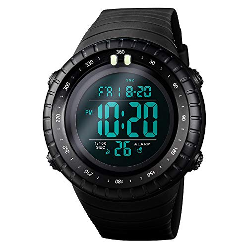 SKMEI Men's Sports Digital Watches, Military Outdoor Waterproof Wrist Watch Multifunction Large Face Watches for Men ()