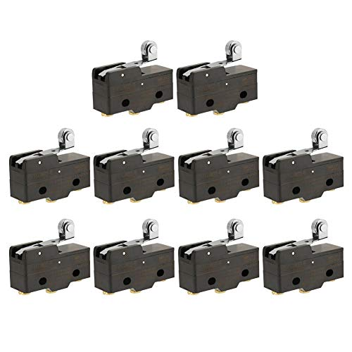 (10Pcs Snap Action Micro Switch Microswitch, Z-15GW22-B Micro Limit Switch Hinge Roller Lever Momentary Snap Action Switches)