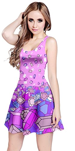 5XL Dress American Diamonds Flag Pearl Day Womens Party Costume XS Cosplay Sleeveless Full of CowCow National Diamond Jewery qtTx67Afw