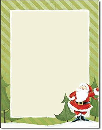 Amazon.com: Jolly Santa Claus Stationery - 80 Sheets: Health ...