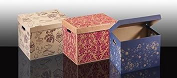 DICOAL - Caja Ordenacion Carton Granate Dicoal 45X35X35Cm ...