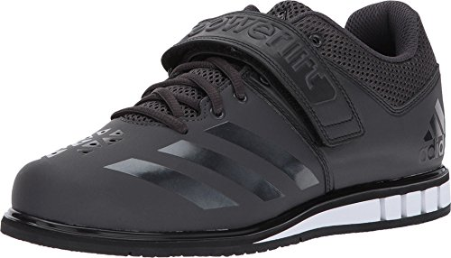 adidas Performance Men's Powerlift.3.1 Cross-Trainer Shoes, Utility Black/Black/White, (11 M US) (Best Shoes To Deadlift In)
