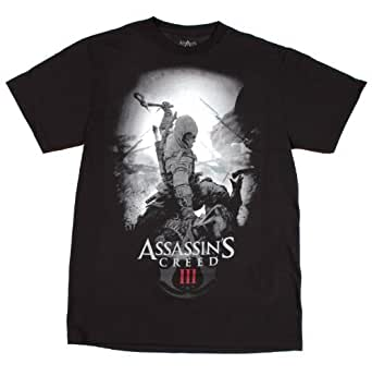 Assassins Creed 3 Death Blow Mens Shirt (Black, Medium)