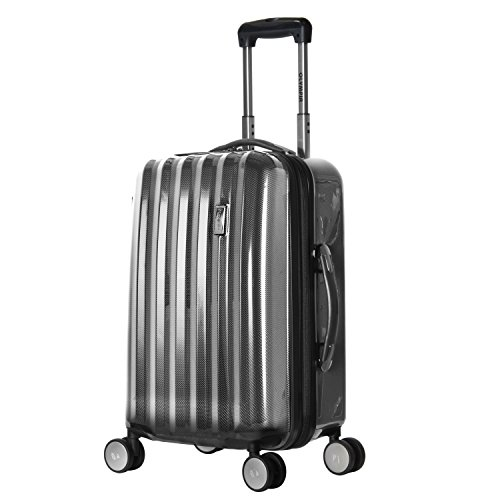 Olympia Luggage Titan 21 Inch Expandable Carry-On Hardside Spinner, Black, One Size by Olympia