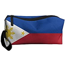 Philippines Beautiful Flag Pattern Makeup Bag Printing Girl Women Travel Portable Cosmetic Bag Sewing Kit Stationery Bags Funny Storage Pouch Bag Multi-function Bag