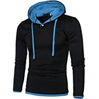 Mens Shirt,Han Shi Fashion Long Sleeve Jacket Warm Hooded Coat Outwear Sport Tank Tops