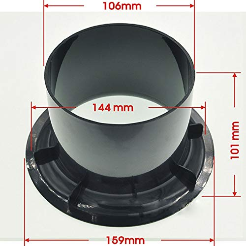 Gimax 10pcs/lot Opening 144mm speaker guide tube connector for 15-18 inch speaker - (Color: black)