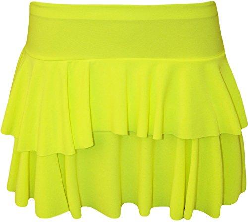 GirlzWalk - Falda - para mujer Fluorescent Lemon