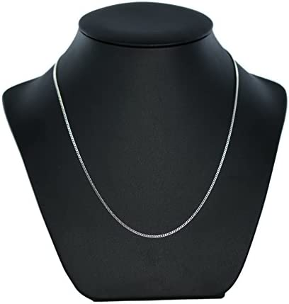 9ct White Gold Curb Chain Necklace - 2mm Thick - Various Lengths - 16, 18, 20, 22 and 24 Inch Long
