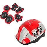 HMANE Protective Gear Set, 7Pcs Kids Adjustable Sports Protective Set Safety Pad Safeguard for Skating Bicycling Protection and Other Extreme Sports Activities