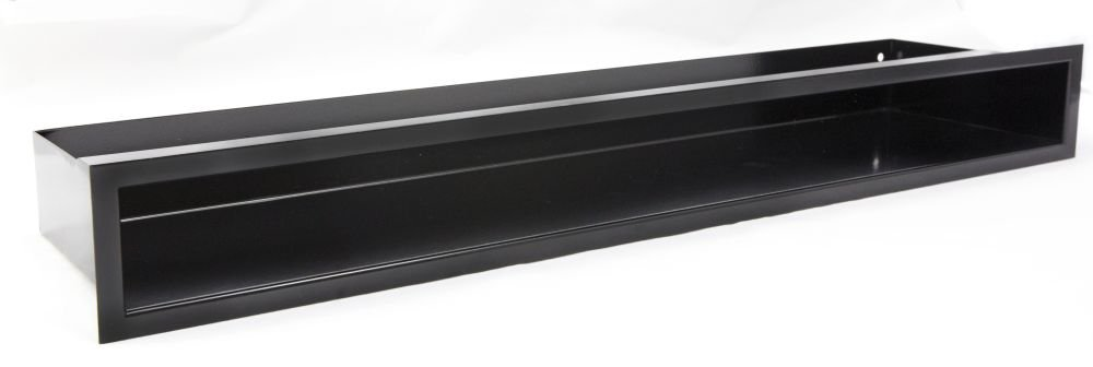 L/üftungsgitter Luftleiste Eckluftleiste Kamin weiss schwarz 765 x 75 x 365 mm rechtwinklig, Anthrazit