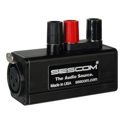 Sescom Sescom ses-mkp-21 ProメスXLR 3 Binding Postラインタップadapter-by-sescom   B00ANZS8JW