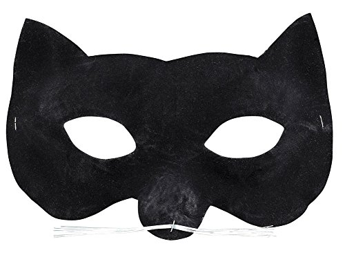 Velvet Cat Eye Mask - Halloween Mask