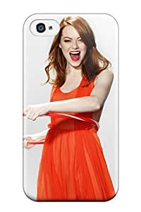 First-class Case Cover For Iphone 4/4s Dual Protection Cover Emma Stone 2012 by icecream design