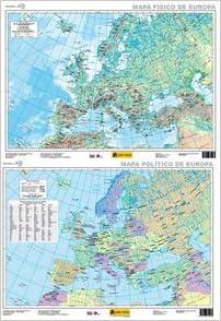 Mapa Europa físico-político, E 1:5.500.000: Amazon.es: Instituto Geográfico Nacional (España): Libros