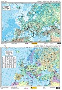 Mapa Europa físico-político, E 1:5.500.000: Amazon.es: Instituto ...