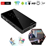 SHENGY Portable Mini DLP LED Projector, 120inch Multimedia Pocket HDMI Home Theater Cinema Beamer, 100 ANSI Lumens 854 x 480 Pixels 1080P Full HD Video