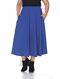 WM Plus 'Tasmin' Flare Midi Skirts