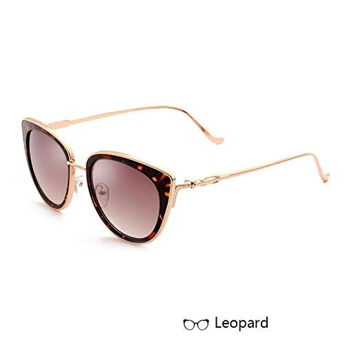 Leopard Blanco Gafas Espejo Mujer Lord TIANLIANG04 De Sol De De El Vendimia De Sol Gafas Metal En La De Mercurio Eyewear Rdxxqw8H