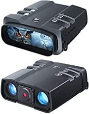 VABSCE 2021 Night Vision Binoculars, 1080p Full HD, 1640ft Viewing Range, Superior 5W Infrared, High Sensitivity COMS Sensor Night Goggles for Hunting, Camping and Surveillance with 64GB Micro SD Card