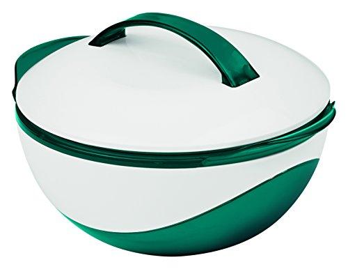 TV Unser Original 09713 Gourmetmaxx Thermoschüssel metallic / Kunststoff, 1100 ml, 24 x 2,30 x 14 cm, smaragdgrün / weiß