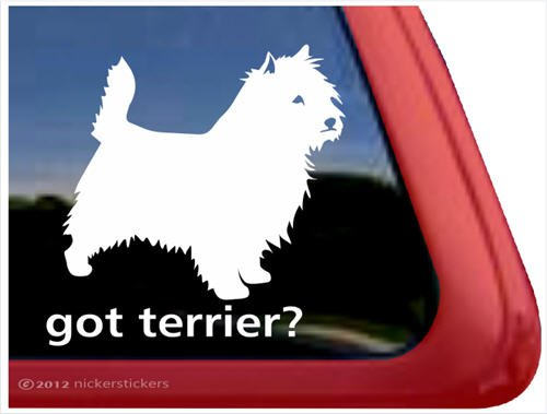Got Terrier? ~ Cairn Terrier Vinyl Window Auto Decal Sticker