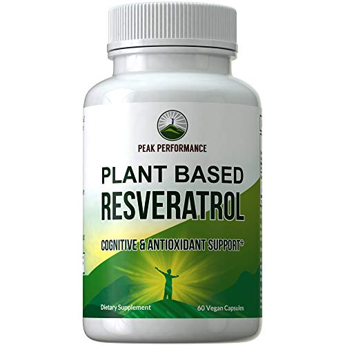 41z8nUpweQL - Resveratrol 500mg - Best Plant Based Resveratrol Supplement by Peak Performance. Made in USA. Capsules Rich in Polyphenols from Natural Plant Extracts. 2 Pills Equals 1000mg. Reservatrol Supplement