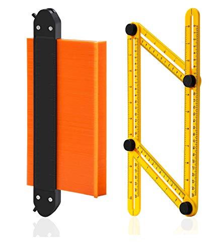 imflyker Contour Gauge Duplicator With Double Lock, Widen Shape Duplication Gauge Tool 10 inch, General Plastic Large…