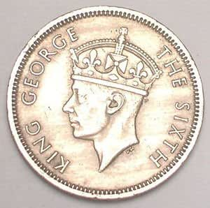 Amazon.com: King George the Sixth Hong Kong 1951 Fifty