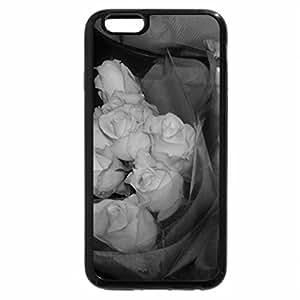 iPhone 6S Plus Case, iPhone 6 Plus Case (Black & White) - White Rose Buds