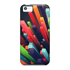 Fashionable Style Case Cover Skin For Iphone 5c- 3d Bars