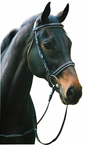 Henri De Rivel Dressage Bridle Horse Black - Parts English Bridle
