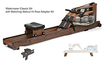 Waterrower Classsic Rower Rowing Machine S4 with Hi-Rise Attachment from WaterRower