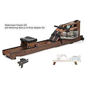 Waterrower Classic Rower Rowing Machine S4 with Hi Rise Attachment