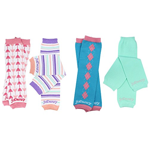juDanzy 4-pack Bamboo baby /& toddler leg warmers gift set for boys /& girls