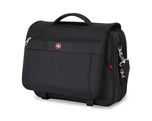 Swiss Gear SA8733 Black TSA Friendly ScanSmart Laptop Messenger Bag - Fits Most 15 Inch Laptops amd Tablets ()