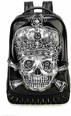 CHUO YUE Skull Metal Pattern Male Creative 3D Personality Rivet Cool Street Hip  Hop Men Backpacks b6ba17a9cb641